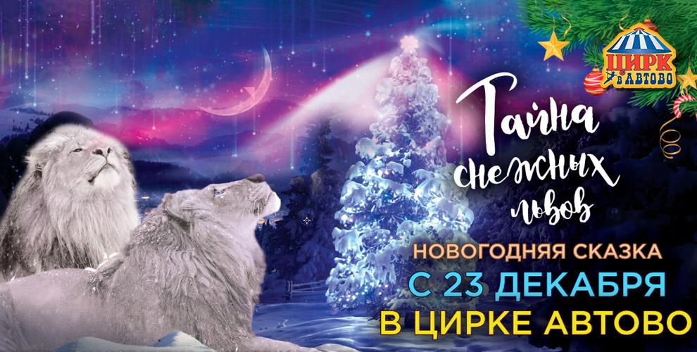 «Цирк в Автово»: билеты на новогоднюю шоу-программу «Тайна снежных львов»