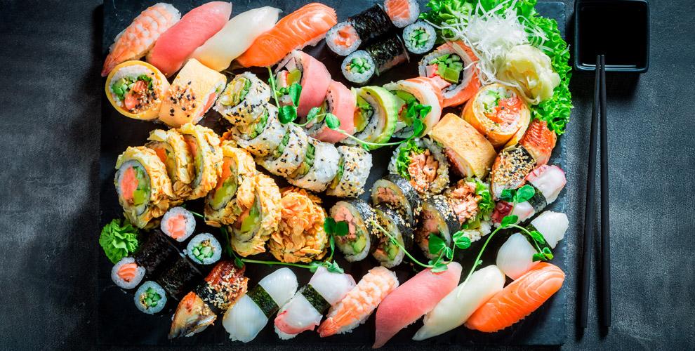 Sushi Big&Small: меню классических, запеченных роллов, наборы ипицца