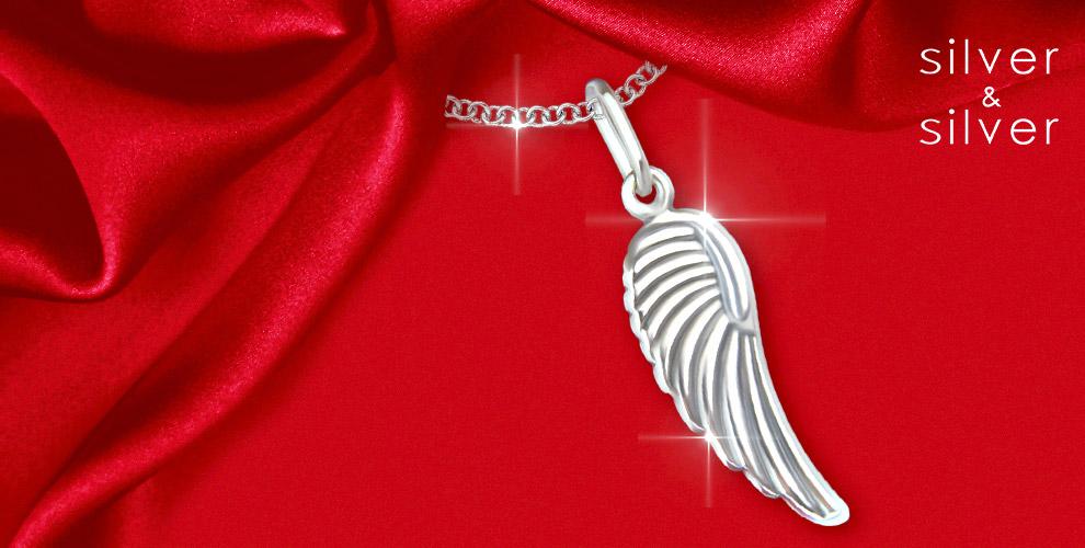 """Серебряная подвеска """"Крылышко"""" + 5000 бонусов от сети салонов Silver&Silver"""