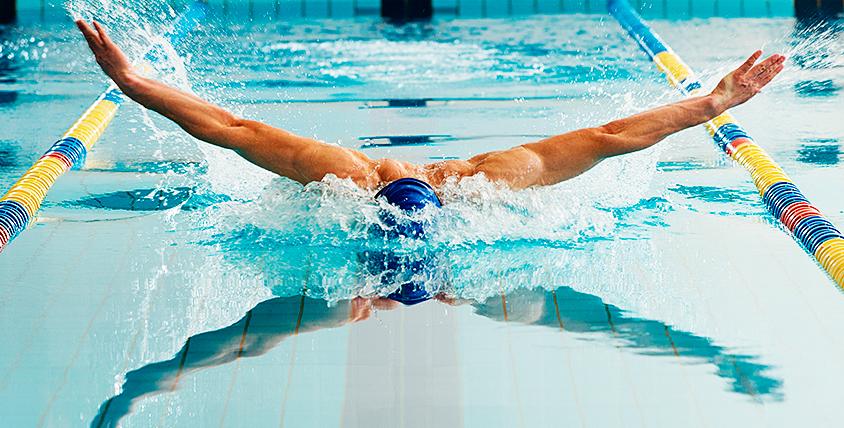 Посещение бассейна, занятия аквааэробикой в  школе плавания и водного поло