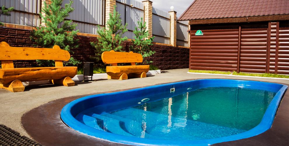 Русская баня на дровах «Берлога» с купелью и термальным бассейном под открытым небом