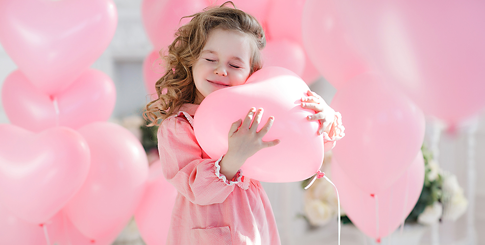 Гелиевые, фольгированные шары в форме сердца от салона цветов и подарков «Le Букет»