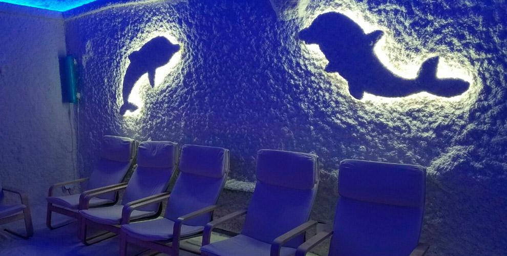 Посещение соляной пещеры «Кристаллы моря» длявзрослых идетей