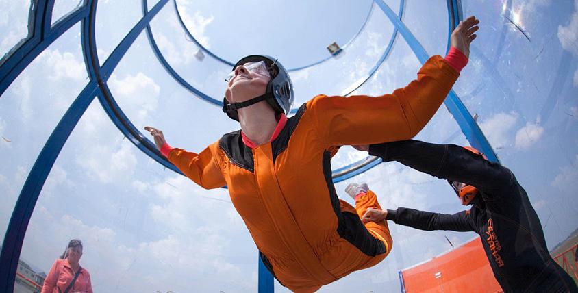 """Хотите преодолеть земную гравитацию? До 7 минут полета в аэротрубе от аэродинамического комплекса """"Аэропоток"""""""