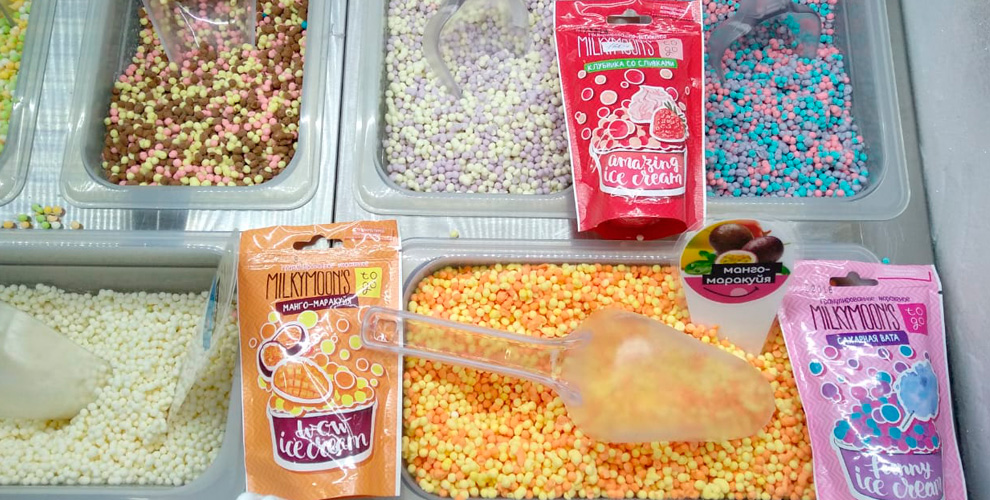 Гранулированное мороженое от магазина Milky Moon's